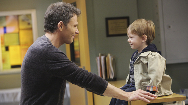 PRIVATE PRACTICE - &quot;The Hardest Part&quot; - When Pete's brother, Adam (Kyle Secor), brings their sick mother (Louise Fletcher) for a consult, Pete discovers her illness may be his brother's fault. Meanwhile, in the wake of her book's success, Violets walks in on Sheldon just as he's about to take her archenemy on a date, and Cooper treats a young musical prodigy whose brain tumor could prevent him from ever playing the piano again, on &quot;Private Practice,&quot; THURSDAY, MARCH 31 (10:01-11:00 p.m., ET) on the ABC Television Network. (ABC/ADAM TAYLOR)TIM DALY