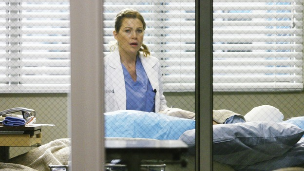 "GREY'S ANATOMY - ""Now or Never"" - Dr. Meredith Grey discovers that patient ""John Doe"" is her friend and co-worker George O'Malley, on ""Grey's Anatomy,"" THURSDAY, MAY 14 (9:00-11:00 p.m., ET) on the ABC Television Network. ELLEN POMPEO"