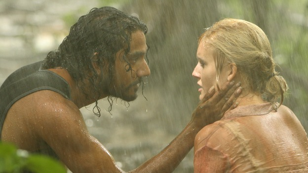 "LOST - ""Abandoned"" - Sawyer's wound becomes life-threatening as he, Michael and Jin make their way through the interior of the island with the tail section survivors. Meanwhile, Shannon is once again haunted by visions of Walt, and Charlie becomes jealous of Locke's interest in Claire, on ""Lost,"" WEDNESDAY, OCTOBER 26 (9:00-10:00 p.m., ET), on the ABC Television Network. (ABC/MARIO PEREZ)NAVEEN ANDREWS, MAGGIE GRACE"