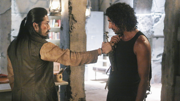 "LOST - ""Sundown"" - Sayid is faced with a difficult decision, and Claire sends a warning to the temple inhabitants, on ""Lost,"" TUESDAY, MARCH 2 (9:00-10:00 p.m., ET) on the ABC Television Network. (ABC/MARIO PEREZ)HIROYUKI SANADA, NAVEEN ANDREWS"