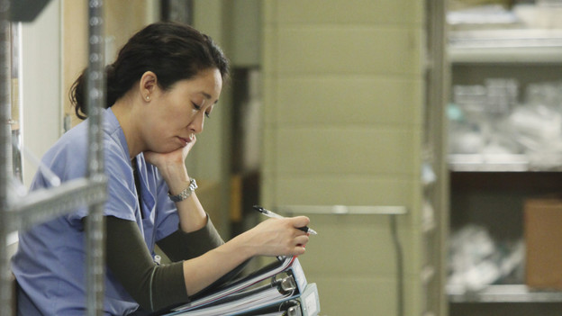 GREY'S ANATOMY - ABC's &quot;Grey's Anatomy&quot; concludes the season with a two-hour shocker, THURSDAY, MAY 20. In the first hour, entitled &quot;Sanctuary&quot; (9:00-10:00 p.m., ET), Seattle Grace Hospital is hit with a crisis like no other in its history. Then, in the second hour, &quot;Death and All His Friends&quot; (10:00-11:00 p.m., ET), Cristina and Meredith's surgical skills are put to the ultimate test. (ABC/DANNY FELD)SANDRA OH