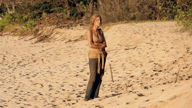 "LOST - ""One of Us"" - Jack's joyous reunion with his fellow survivors is cut short when they realize that accompanying him is one of ""The Others,"" and Claire is stricken by a mysterious, life-threatening illness, on ""Lost,"" WEDNESDAY, APRIL 11 (10:00-11:00 p.m., ET), on the ABC Television Network. (ABC/MARIO PEREZ)ELIZABETH MITCHELL"