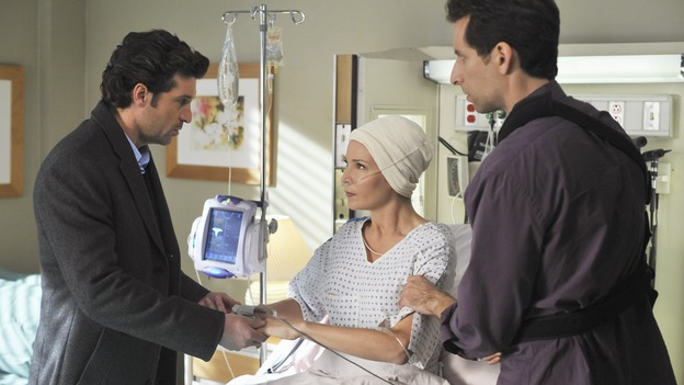 "PRIVATE PRACTICE - ""Ex-Life"" - As Archer recoups from surgery, Derek has Addison work with his pregnant neuro patient; after Sam suffers a sudden asthma attack, Bailey and Naomi work together to find the root cause of Sam's sudden attack; and at Oceanside Wellness, Cooper, Violet and Pete work together to treat a mother suffering from postpartum depression, on ""Private Practice,"" THURSDAY, FEBRUARY 12 (10:02-11:00 p.m., ET) on the ABC Television Network. (ABC/ERIC MCCANDLESS)PATRICK DEMPSEY, JENNIFER WESTFELDT, BEN SHENKMAN"