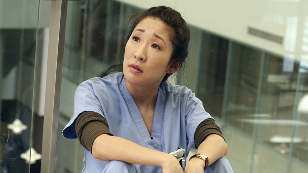 "GREY'S ANATOMY - ""From a Whisper to a Scream"" - A traumatic car accident fills the ER, Cristina has a crisis of conscience about her deceptive teamwork with Burke, and Izzie pushes the boundaries of her probation, on ""Grey's Anatomy,"" THURSDAY, NOVEMBER 23 (9:00-10:01 p.m., ET) on the ABC Television Network. (ABC/KAREN NEAL)SANDRA OH"