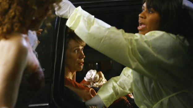 "GREY'S ANATOMY - ""Dream a Little Dream of Me"" - Bailey helps three injured women get out of their limousine, on ""Grey's Anatomy,"" THURSDAY, SEPTEMBER 25 (9:00-11:00 p.m., ET) on the ABC Television Network. (ABC/SCOTT GARFIELD) KATHY BAKER, CHANDRA WILSON"