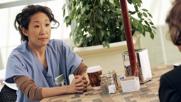 GREY'S ANATOMY - &quot;I Am a Tree&quot; - Cristina meets Burke's parents -- and in the most awkward of circumstances -- the interns campaign for Izzie's reinstatement to the surgical intern program, Addison takes a break from her hospital duties, and a surgical patient lives what may be her last day to the fullest, on &quot;Grey's Anatomy,&quot; THURSDAY, SEPTEMBER 28 (9:00-10:01 p.m., ET) on the ABC Television Network. (ABC/VIVIAN ZINK)SANDRA OH