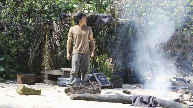 "LOST -  ""This Place is Death"" - When a time flash separates Jin from Rousseau and the French science team that rescued him, he returns to find their camp in disarray, on ""Lost,"" WEDNESDAY, FEBRUARY 11 (9:00-10:02 p.m., ET) on the ABC Television Network.  (ABC/MARIO PEREZ) DANIEL DAE KIM"