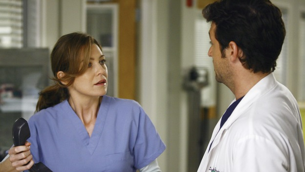 "GREY'S ANATOMY - ""A Change is Gonna Come"" - Having just returned from her honeymoon with Meredith, Cristina searches for Burke, but he's nowhere to be found. Meredith, Cristina, Izzie and Alex spend their first day as residents with their own groups of interns - among the interns are George, repeating his intern year after failing his exams, and Lexie Grey, Meredith's half-sister whom she has never met. Now that Derek's relationship with Meredith has reached an emotional impasse, he looks to his fellow doctors for friendship; Bailey wrestles with her place within the hospital now that her former interns report to new Chief Resident Callie; and Richard resumes his position as Chief of Surgery, on the season premiere of ""Grey's Anatomy,"" THURSDAY, SEPTEMBER 27 (9:00-10:01 p.m., ET) on the ABC Television Network. (ABC/SCOTT GARFIELD)ELLEN POMPEO, PATRICK DEMPSEY"