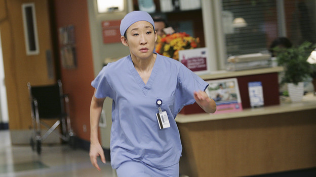"GREY'S ANATOMY - ""Blink""- Mark flies Addison to Seattle to help with a difficult procedure on his pregnant daughter, Sloan, Owen questions Teddy's motives when she assigns Cristina the lead on a complicated surgery, and Derek's suspicions are raised when the Chief recruits Meredith to assist with a high profile operation on, ""Grey's Anatomy,"" THURSDAY, JANUARY 14 (9:00-10:01 p.m., ET) on the ABC Television Network. (ABC/ADAM TAYLOR)SANDRA OH"