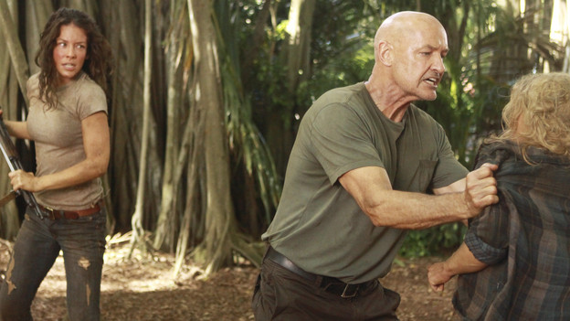 LOST - &quot;Recon&quot; - Locke tasks Sawyer with a mission, on &quot;Lost,&quot; TUESDAY, MARCH 23 (9:00-10:00 p.m., ET) on the ABC Television Network.  (ABC/MARIO PEREZ)NAVEEN ANDREWS, EVANGELINE LILLY, TERRY O'QUINN, EMILIE DE RAVIN