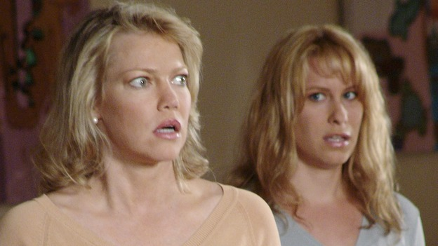 "DESPERATE HOUSEWIVES - ""Running to Stand Still"" -- Lynette locks horns with an officious mom (guest star Sharon Lawrence) at the twinsÕ school who is trying to produce a Òpolitically correctÓ play about Little Red Riding Hood. Meanwhile, Susan continues to investigate the mystery of ZachÕs sudden disappearance, Mama Solis (guest star Lupe Ontiveros) comes closer to discovering GabrielleÕs dirty little secret, and Bree comes undone when Rex suggests they hire a sex surrogate, on ÒDesperate Housewives,Ó SUNDAY, NOVEMBER 7 (9:00-10:00 p.m., ET) on the ABC Television Network. (ABC/DANNY FELD) SHANNON O'HURLEY, EXTRA"