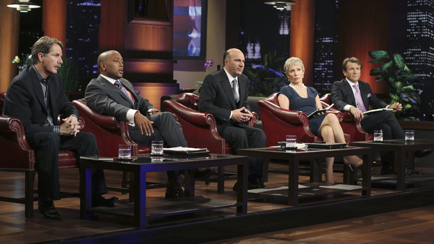 SHARK TANK - &quot;Episode 203&quot; - While successful comedian and businessman Jeff Foxworthy makes his debut as a guest &quot;Shark&quot; investor, Vincent Pastore (&quot;The Sopranos&quot;) becomes the first celebrity to pitch a business proposition to the Sharks. He and his New Jersey business partner present a novel idea that could have everyone holding on tighter to their money. Also, a flight attendant and her husband, from Georgia, believe their unique portable child's seat will help make traveling with kids much easier; a duo from Florida believe they have the next big lifestyle clothing brand; an entrepreneur from North Carolina has an emotional attachment to a business his father started before he passed away; and there'll be an update on Tiffany Krumin, the maker of Ava the Elephant, a device that went from a home-made prototype to a mass-produced product sold in retail chains nationwide, on &quot;Shark Tank,&quot; FRIDAY, APRIL 8 (8:00-9:00 p.m., ET) on ABC. (ABC/MICHAEL ANSELL)JEFF FOXWORTHY, DAYMOND JOHN, KEVIN O'LEARY, BARBARA CORCORAN, ROBERT HERJAVEC