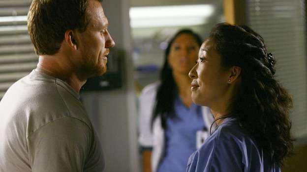 GREY'S ANATOMY - &quot;Dream a Little Dream of Me&quot; - On the two-hour season premiere of &quot;Grey's Anatomy,&quot; Meredith and Derek learn that &quot;happily ever after&quot; isn't easy, a military doctor who brings in a trauma patient catches Cristina's eye, and the Chief and his staff reel at the news that Seattle Grace is no longer nationally ranked as a top-tier teaching hospital, on &quot;Grey's Anatomy,&quot; THURSDAY, SEPTEMBER 25 (9:00-11:00 p.m., ET) on the ABC Television Network. (ABC/SCOTT GARFIELD)KEVIN McKIDD, SARA RAMIREZ, SANDRA OH