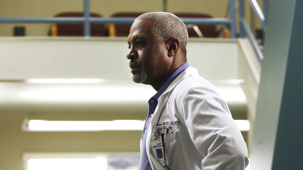 "GREY'S ANATOMY - ""Testing 1-2-3"" - The interns take the biggest test of their careers, their first-year medical exams, as the residents attend to three injured mountain climbers. Meanwhile Callie's suspicions of George and Izzie grow, and Cristina struggles to write her wedding vows, on ""Grey's Anatomy,"" THURSDAY, MAY 10 (9:00-10:01 p.m., ET) on the ABC Television Network. (ABC/SCOTT GARFIELD)JAMES PICKENS, JR."