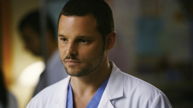 "GREY'S ANATOMY - ""Elevator Love Letter"" - Alex waits to hear how Izzie's surgery went, on ""Grey's Anatomy,"" THURSDAY, MARCH 26 (9:00-10:02 p.m., ET) on the ABC Television Network. (ABC/SCOTT GARFIELD) JUSTIN CHAMBERS"