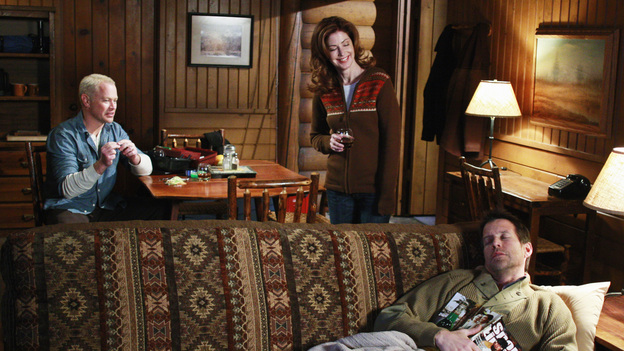 "DESPERATE HOUSEWIVES - ""A Spark. To Pierce the Dark."" - Dave, Katherine and Mike rest up in the cabin."