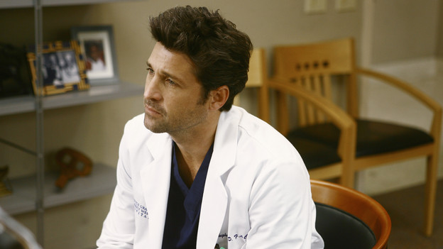 GREY'S ANATOMY - &quot;I Like You So Much Better When You're Naked&quot; - After learning of Richard's drinking problem, Derek confronts him for the sake of his friend and the hospital, Izzie returns, hoping to reconcile with Alex, and tensions run high between Teddy, Cristina and Owen in the aftermath of Cristina's startling confession, on &quot;Grey's Anatomy,&quot; THURSDAY, JANUARY 21 (9:00-10:01 p.m., ET) on the ABC Television Network. (ABC/SCOTT GARFIELD)PATRICK DEMPSEY