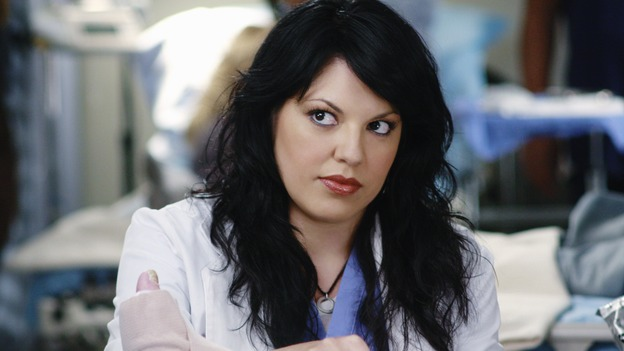 "GREY'S ANATOMY - ""An Honest Mistake"" - Dr. Callie Torres, on ""Grey's Anatomy,"" THURSDAY, FEBRUARY 19 (9:00-10:02 p.m., ET) on the ABC Television Network. (ABC/RON TOM) SARA RAMIREZ"