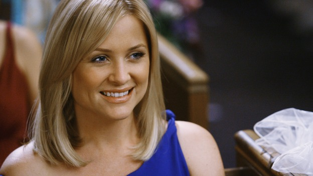 "GREY'S ANATOMY - ""What a Difference a Day Makes"" - Dr. Arizona Robbins looks on as Izzie Stevens and Alex Karev get married, on ""Grey's Anatomy,"" THURSDAY, MAY 7 (9:00-10:02 p.m., ET) on the ABC Television Network. JESSICA CAPSHAW"