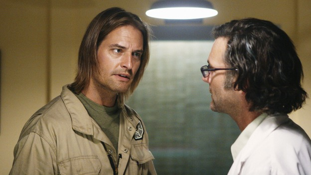 "LOST - ""LaFleur"" - Sawyer perpetuates a lie with some of the other island survivors in order to protect themselves from mistakes of the past, on ""Lost,"" WEDNESDAY, MARCH 4 (9:00-10:02 p.m., ET) on the ABC Television Network. (ABC/MARIO PEREZ)JOSH HOLLOWAY, CHRISTOPHER JAYMES"