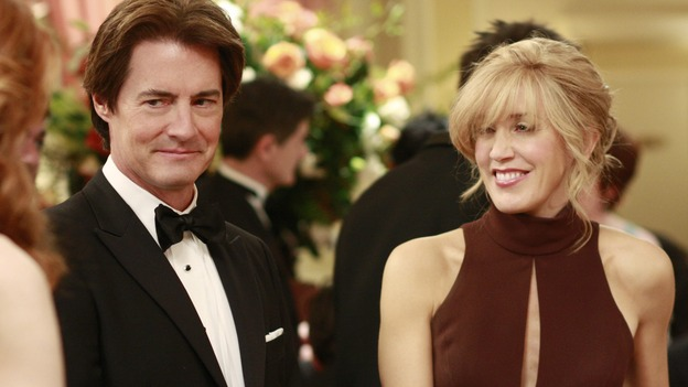 "DESPERATE HOUSEWIVES - ""In Buddy's Eyes"" - Orson and Lynette at the Founders Day Ball, on Desperate Housewives,"" SUNDAY, APRIL 20 (9:00-10:02 p.m., ET) on the ABC Television Network. (ABC/RON TOM) KYLE MACLACHLAN, FELICITY HUFFMAN"
