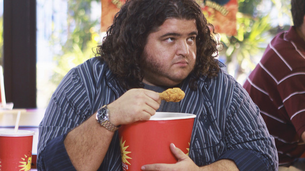 LOST - &quot;Everybody Loves Hugo&quot; - Hurley agonizes over what the group should do next, and Locke is curious about the new arrival to his camp, on &quot;Lost,&quot; TUESDAY, APRIL 13 (9:00-10:02 p.m., ET) on the ABC Television Network. (ABC/MARIO PEREZ) JORGE GARCIA
