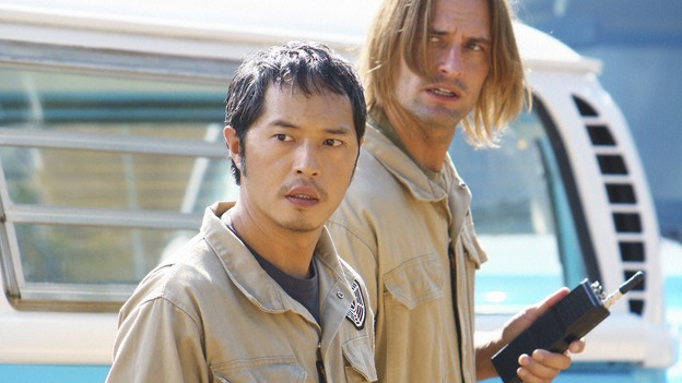 "LOST - ""Namaste"" - When some old friends drop in unannounced, Sawyer is forced to further perpetuate his lie in order to protect them, on ""Lost,"" WEDNESDAY, MARCH 18 (9:00-10:02 p.m., ET) on the ABC Television Network. (ABC/MARIO PEREZ)KEN LEUNG, JOSH HOLLOWAY"