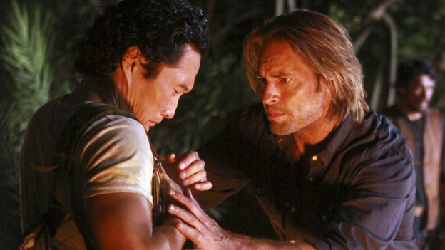 "LOST - ""The Package"" - Sun and Jin desperately continue their search for one another, and Locke confronts his enemy, on ""Lost,"" TUESDAY, MARCH 30 (9:00-10:02 p.m., ET) on the ABC Television Network. (ABC/MARIO PEREZ)DANIEL DAE KIM, JOSH HOLLOWAY"