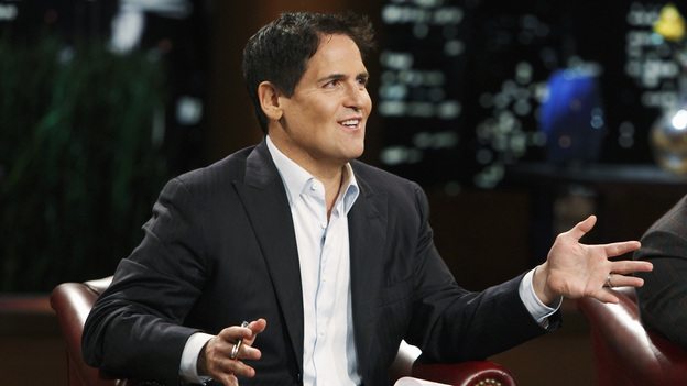 "SHARK TANK -""Episode 204"" -- Tempers flare when guest Shark Mark Cuban urges the entrepreneurs to stop negotiating with the other Sharks if they even want a chance to make a business deal with him. In this episode, a fireman from Arkansas brings an invention to the Shark Tank that could make millions and save lives; after creating an eco-friendly way to listen to music on the go, a duo from Chicago hope the Sharks will want to invest; a feisty, combative entrepreneur from Montclair, New Jersey seeks to cash in on the lucrative wedding business; and a man from Oklahoma hopes the Sharks will smell the money when he pitches his unique male-oriented brand of candles, on ""Shark Tank,"" FRIDAY, MAY 6 (8:00-9:00 p.m., ET) on the ABC Television Network. (ABC/CRAIG SJODIN)MARK CUBAN, DAYMOND JOHN"