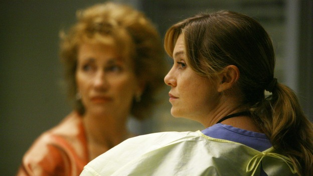 "GREY'S ANATOMY - ""Dream a Little Dream of Me"" - Meredith looks after one of three injured women, on ""Grey's Anatomy,"" THURSDAY, SEPTEMBER 25 (9:00-11:00 p.m., ET) on the ABC Television Network. (ABC/SCOTT GARFIELD) KATHY BAKER, ELLEN POMPEO"