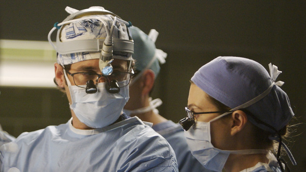 "GREY'S ANATOMY - ""Piece of My Heart"" - Addison returns to Seattle Grace to perform an operation and is taken aback by all of the changes in her old co-workers' lives. Meanwhile Meredith and Derek's clinical trial has its first patient, and Rebecca/Ava returns with shocking news for Alex, on ""Grey's Anatomy,"" THURSDAY, MAY 1 (9:00-10:01 p.m., ET) on the ABC Television Network.  (ABC/SCOTT GARFIELD)PATRICK DEMPSEY, ELLEN POMPEO"