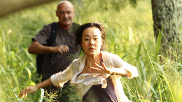 "LOST - ""The Package"" - Sun and Jin desperately continue their search for one another, and Locke confronts his enemy, on ""Lost,"" TUESDAY, MARCH 30 (9:00-10:02 p.m., ET) on the ABC Television Network. (ABC/MARIO PEREZ)TERRY O'QUINN, YUNJIN KIM"