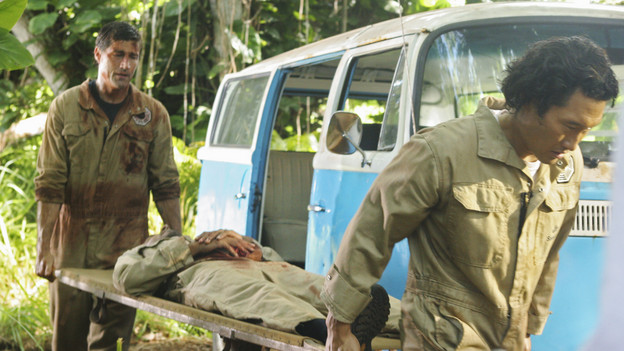 LOST - &quot;LA X&quot; - &quot;Lost&quot; returns for its final season of action-packed mystery and adventure -- that will continue to bring out the very best and the very worst in the people who are lost -- on the season premiere of &quot;Lost,&quot; TUESDAY, FEBRUARY 2 (9:00-11:00 p.m., ET) on the ABC Television Network. On the season premiere episode, &quot;LA X&quot; Parts 1 &amp; 2, the aftermath from Juliet's detonation of the hydrogen bomb is revealed. (ABC/MARIO PEREZ) MATTHEW FOX, NAVEEN ANDREWS, DANIEL DAE KIM