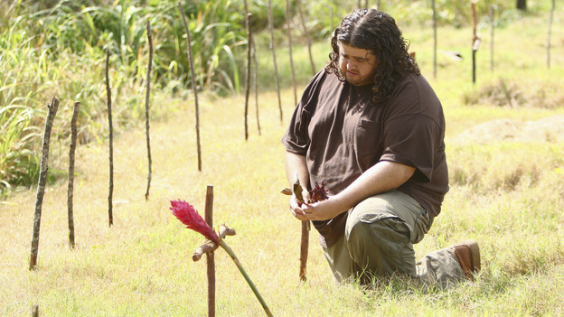 "LOST - ""Everybody Loves Hugo"" - Hurley agonizes over what the group should do next, and Locke is curious about the new arrival to his camp, on ""Lost,"" TUESDAY, APRIL 13 (9:00-10:02 p.m., ET) on the ABC Television Network. (ABC/MARIO PEREZ) JORGE GARCIA"