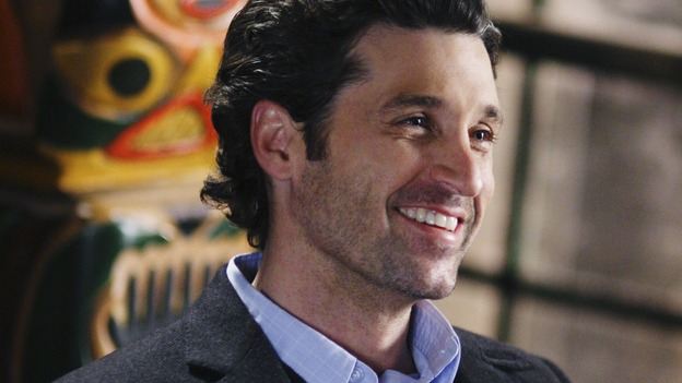 "GREY'S ANATOMY - ""Before and After"" - Derek celebrates Archer's successful surgery, on ""Grey's Anatomy,"" THURSDAY, FEBRUARY 12 (9:00-10:02 p.m., ET) on the ABC Television Network. (ABC/RICHARD CARTWRIGHT) PATRICK DEMPSEY"
