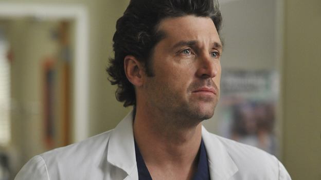 GREY'S ANATOMY- &quot;Here Comes the Flood&quot; - Dr.&nbsp;Derek Shepherd, on &quot;Grey's Anatomy,&quot; THURSDAY, OCTOBER 9 (9:00-10:01 p.m., ET) on the ABC Television Network. (ABC/ERIC McCANDLESS) PATRICK DEMPSEY