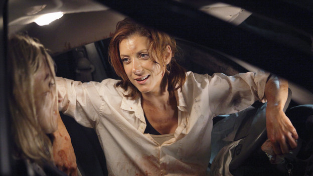 PRIVATE PRACTICE - &quot;The Hard Part&quot; - Addison and Sam go for a hike in Malibu, and must perform urgent field care when they stumble upon an expecting couple, trapped in their car after an accident. Meanwhile at Oceanside Wellness, Charlotte, Cooper and Violet treat a newlywed who, out of nervousness for his wedding night, has taken too much Viagra, and Pete and Sheldon hit the bar scene together but fall for the same girl, on &quot;Private Practice,&quot; THURSDAY, NOVEMBER 12 (10:01-11:00 p.m., ET) on the ABC Television Network. (ABC/ADAM TAYLOR)EVER CARRADINE, KATE WALSH