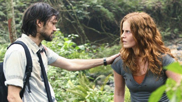 "LOST -  ""This Place is Death"" - Faraday becomes concerned that the island's increasingly violent shifts through time are taking their toll on Charlotte, on ""Lost,"" WEDNESDAY, FEBRUARY 11 (9:00-10:02 p.m., ET) on the ABC Television Network.  (ABC/MARIO PEREZ) JEREMY DAVIES, REBECCA MADER"