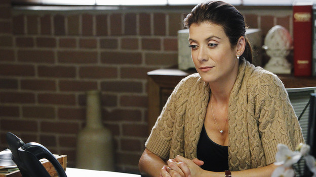 PRIVATE PRACTICE - &quot;All in the Family&quot; - Addison and Sam's relationship is strained when they disagree over the treatment and safety of a comatose patient who has become pregnant, while Pete and Charlotte are faced with the ethical dilemma of revealing the HIV status of a patient who has been in a serious auto accident. Violet crosses some boundaries with Pete's family as she gets caught up in the fray of Lucas's first Halloween, on &quot;Private Practice,&quot; THURSDAY, OCTOBER 28 (10:01-11:00 p.m., ET) on the ABC Television Network. (ABC/JORDIN ALTHAUS)KATE WALSH