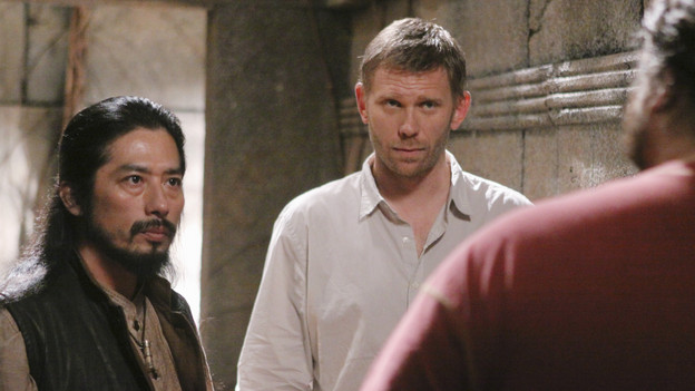 "LOST - ""Lighthouse"" - Hurley must convince Jack to accompany him on an unspecified mission, and Jin stumbles across an old friend, on ""Lost,"" TUESDAY, FEBRUARY 23 (9:00-10:00 p.m., ET) on the ABC Television Network. (ABC/MARIO PEREZ)HIROUKI SANADA, MARK PELLIGRINO, JORGE GARCIA"