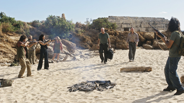 "LOST - ""LA X"" - ""Lost"" returns for its final season of action-packed mystery and adventure -- that will continue to bring out the very best and the very worst in the people who are lost -- on the season premiere of ""Lost,"" TUESDAY, FEBRUARY 2 (9:00-11:00 p.m., ET) on the ABC Television Network. On the season premiere episode, ""LA X"" Parts 1 & 2, the aftermath from Juliet's detonation of the hydrogen bomb is revealed. (ABC/MARIO PEREZ)ZULEIKHA ROBINSON, TERRY O'QUINN, MICHAEL EMERSON"