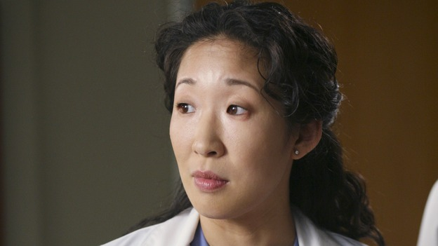 GREY'S ANATOMY - &quot;Sometimes a Fantasy&quot; - Cristina tries to help Preston cope with his hand tremor, Izzie attempts to return to the hospital for the first time since she quit the program, Alex deals with a patient who has a long history of injuries, and George and Callie's relationship moves forward, on &quot;Grey's Anatomy,&quot; THURSDAY, OCTOBER 5 (9:00-10:01 p.m., ET) on the ABC Television Network. (ABC/KAREN NEAL)SANDRA OH