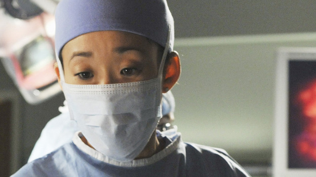 GREY'S ANATOMY - &quot;There's No 'I' in Team&quot; - Cristina during surgery, on &quot;Grey's Anatomy,&quot; THURSDAY, OCTOBER 23 (9:00-10:01 p.m., ET) on the ABC Television Network. (ABC/ERIC MCCANDLESS) SANDRA OH