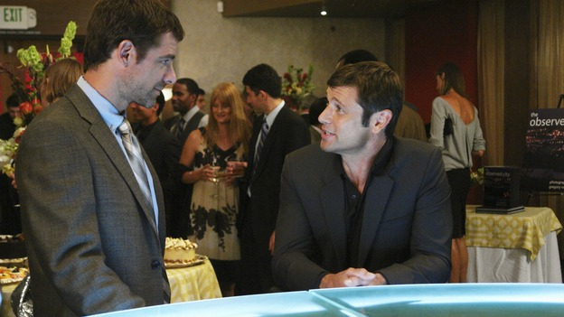 "PRIVATE PRACTICE - ""Tempting Faith"" - Addison receives a surprise visit from her brother and fellow surgeon, Archer, and his presence not only causes trouble for her, but for Naomi and Sam as well. Meanwhile Meg returns to try to make it work with Pete, and a patient accused of a malicious crime stirs up anger and emotions, for both Violet and Dell, on ""Private Practice,"" WEDNESDAY, NOVEMBER 26 (9:00-10:01 p.m., ET) on the ABC Television Network. (ABC/RICHARD CARTWRIGHT)DAVID SUTCLIFFE, GRANT SHOW"
