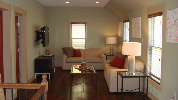 EXTREME MAKEOVER HOME EDITION - &quot;Marshall Family,&quot; - Living Room, on &quot;Extreme Makeover Home Edition,&quot; Sunday, November 29th, on the ABC Television Network.