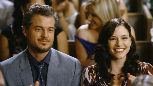 "GREY'S ANATOMY - ""What a Difference a Day Makes"" - Mark and Lexie look on as Izzie and Alex get married, on ""Grey's Anatomy,"" THURSDAY, MAY 7 (9:00-10:02 p.m., ET) on the ABC Television Network. ERIC DANE, CHYLER LEIGH"
