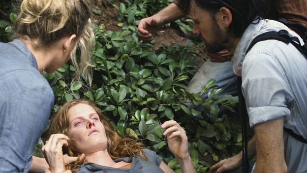"LOST -  ""This Place is Death"" - Juliet and Faraday tend to Charlotte, who is growing weaker from the affects of the island's violent shifts through time, on ""Lost,"" WEDNESDAY, FEBRUARY 11 (9:00-10:02 p.m., ET) on the ABC Television Network.  (ABC/MARIO PEREZ) ELIZABETH MITCHELL, REBECCA MADER,  JEREMY DAVIES"