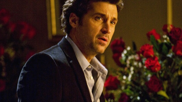 "GREY'S ANATOMY - ""Beat Your Heart Out"" - Derek's romantic plans to propose are interrupted by an urgent phone call from his ex, on ""Grey's Anatomy,"" THURSDAY, FEBRUARY 5 (9:00-10:02 p.m., ET) on the ABC Television Network. (ABC/RANDY HOLEMES) PATRICK DEMPSEY"
