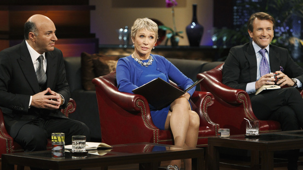 "SHARK TANK -""Episode 204"" -- Tempers flare when guest Shark Mark Cuban urges the entrepreneurs to stop negotiating with the other Sharks if they even want a chance to make a business deal with him. In this episode, a fireman from Arkansas brings an invention to the Shark Tank that could make millions and save lives; after creating an eco-friendly way to listen to music on the go, a duo from Chicago hope the Sharks will want to invest; a feisty, combative entrepreneur from Montclair, New Jersey seeks to cash in on the lucrative wedding business; and a man from Oklahoma hopes the Sharks will smell the money when he pitches his unique male-oriented brand of candles, on ""Shark Tank,"" FRIDAY, MAY 6 (8:00-9:00 p.m., ET) on the ABC Television Network. (ABC/CRAIG SJODIN)KEVIN O'LEARY, BARBARA CORCORAN, ROBERT HERJAVEC"