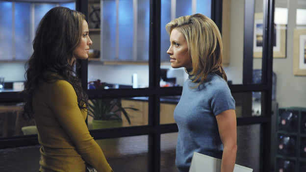"PRIVATE PRACTICE - ""Shotgun"" - Addison and Cooper counsel a couple who must make an unthinkable choice, to decide which one of their ailing daughters to save with their newborn's core blood. Sam is dealt another blow when he finds out Dink's intent to marry Maya, and the rest of the gang runs an intervention on a still distant Naomi, on ""Private Practice,"" THURSDAY, FEBRUARY 4 (10:01-11:00 p.m., ET) on the ABC Television Network. (ABC/ERIC MCCANDLESS)AMY BRENNEMAN, KADEE STRICKLAND"